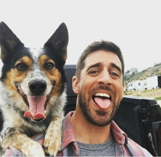 Rodgers...I just saw this commercial & lost me mind! SUCH A MAN!  and his pooch! Adorable!