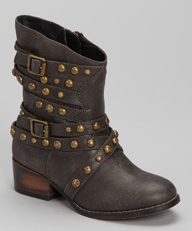Take a look at this Black JHaleyy Boot by Steve Madden on #zulily today!