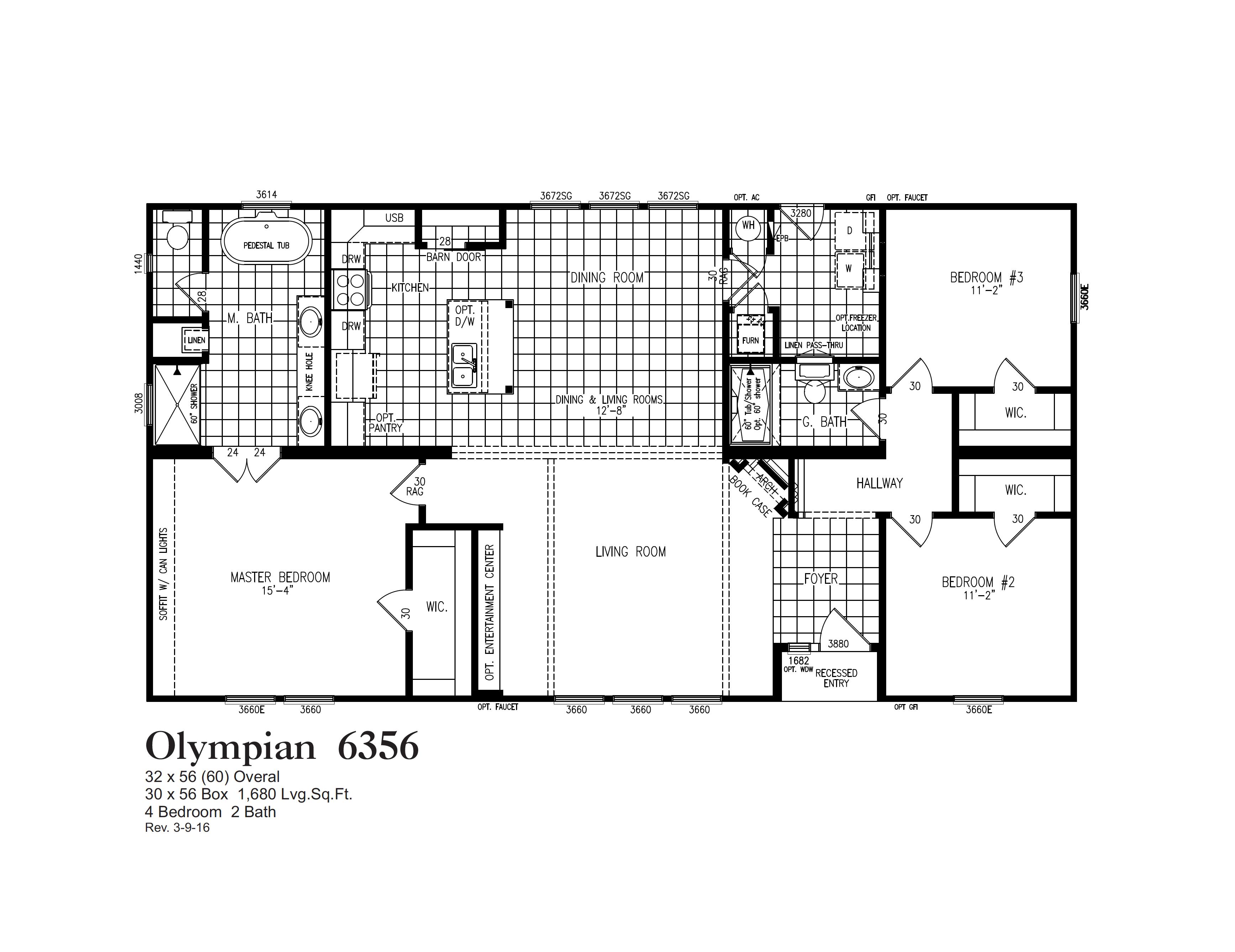 6356 Floorplan Oak Creek Homes House Floor Plans Floor Plans