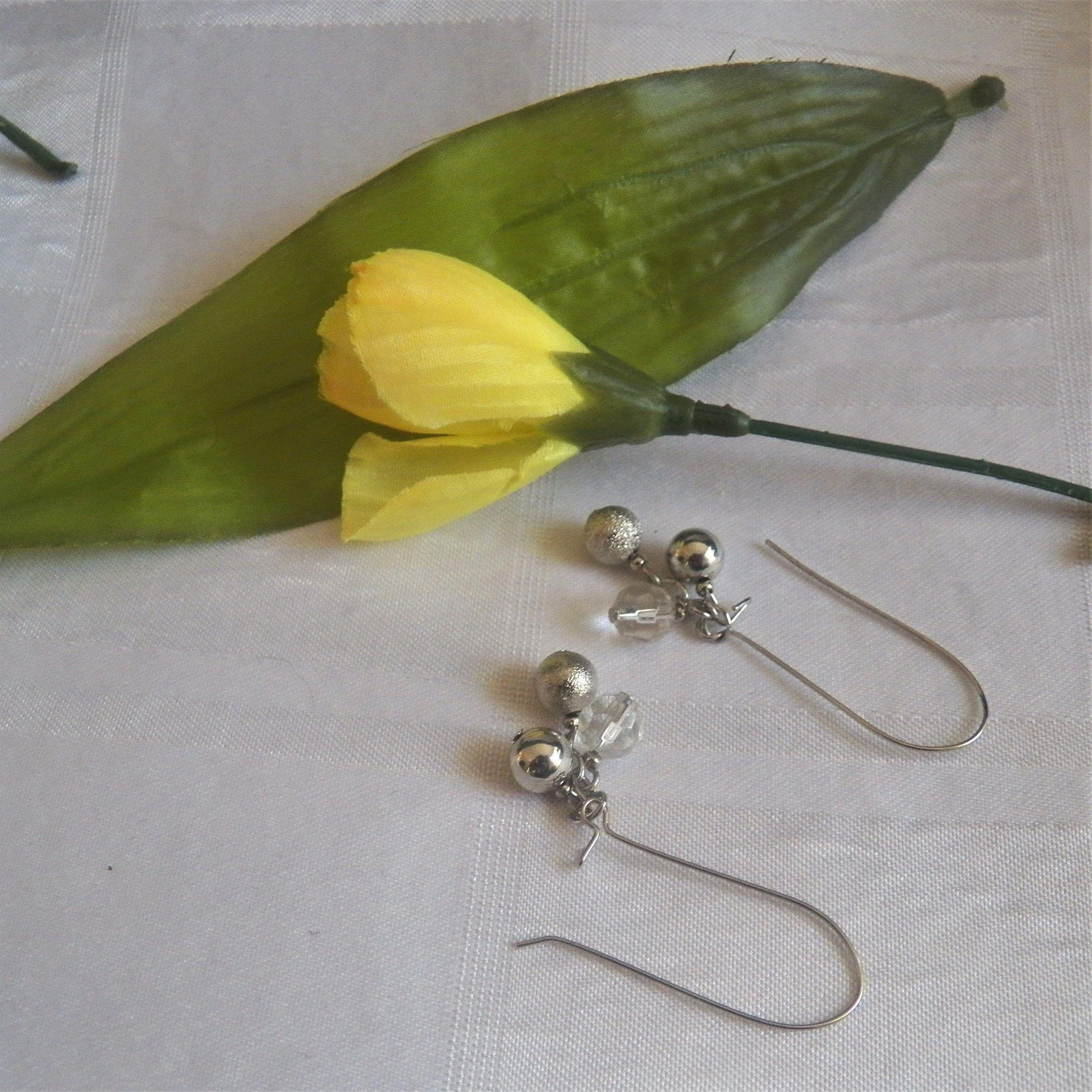 Lane bryant long drop bead earrings drop beads bead