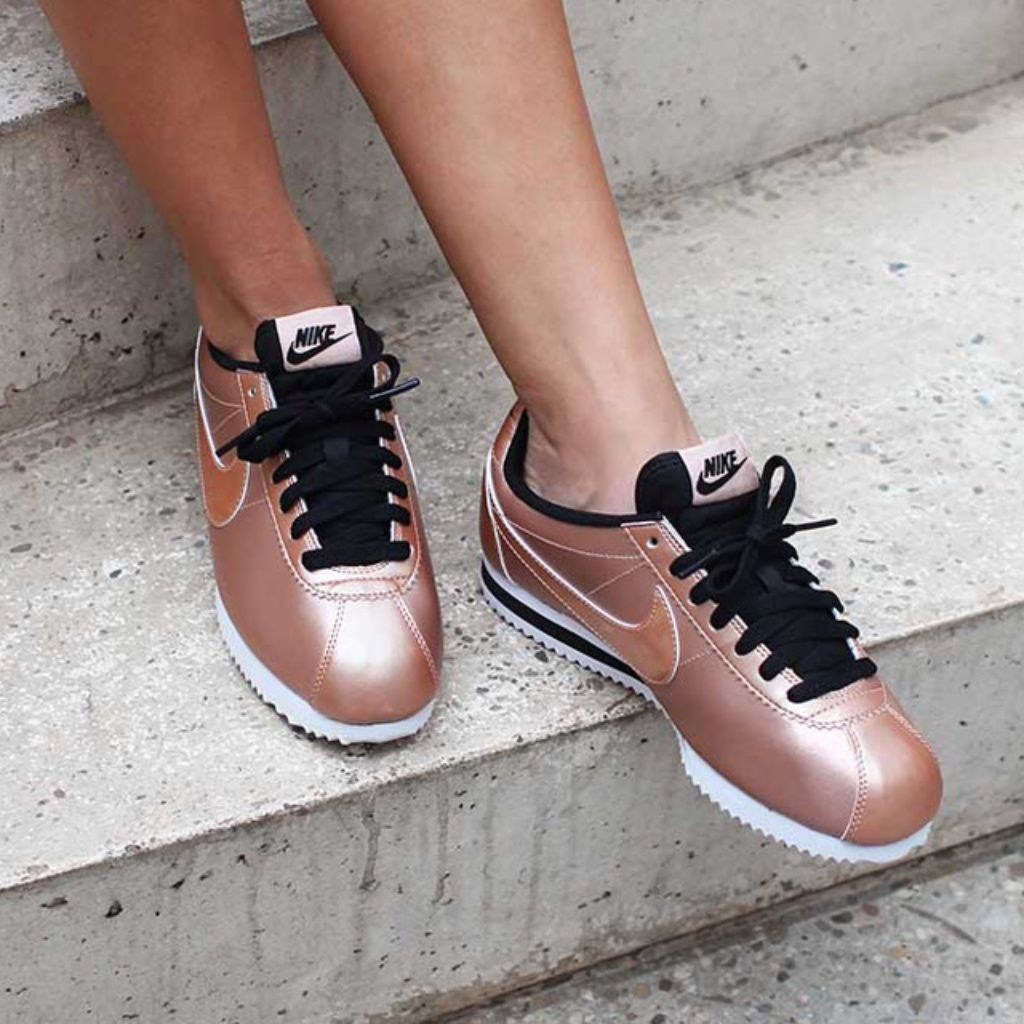 the latest bce8d 5c8df Limited Edition Rose Gold Nike Cortez