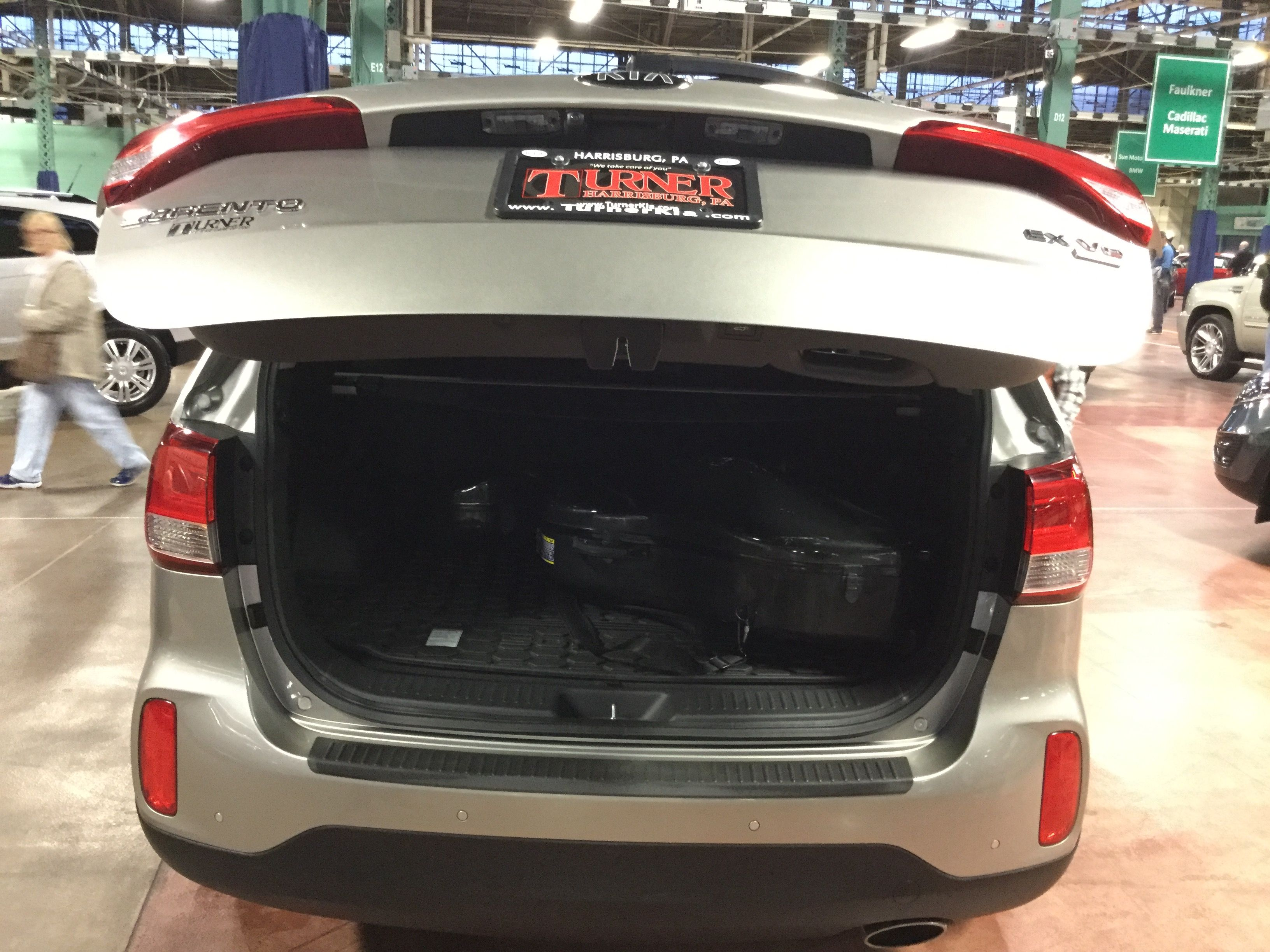 Volvo S90 has a HUGE trunk It still has a lot of space after the