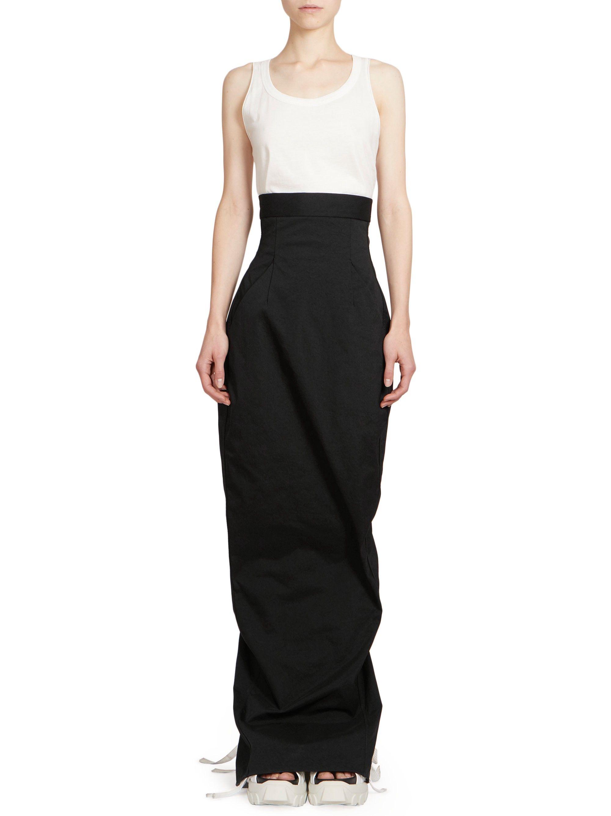 ad9ba5d5f0 Dirt Pillar High Waist Maxi Skirt by Rick Owens | Products | Maxi ...
