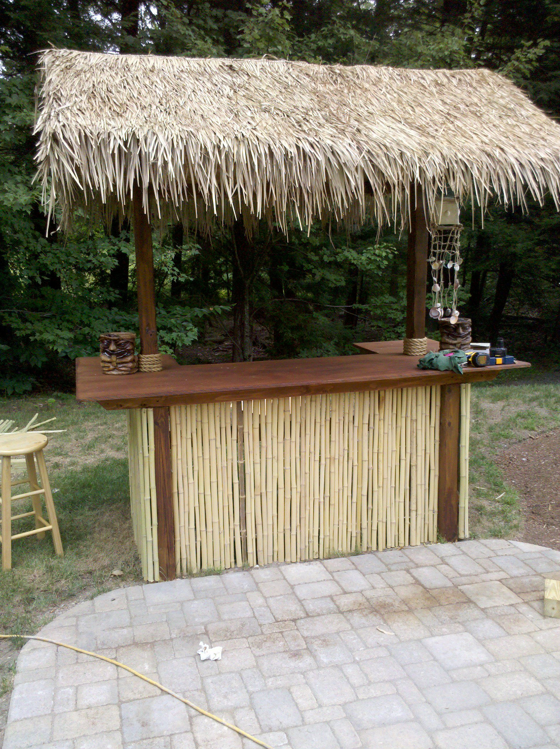 Tiki Bar Simple With Bamboo And Thatch In 2019 Outdoor