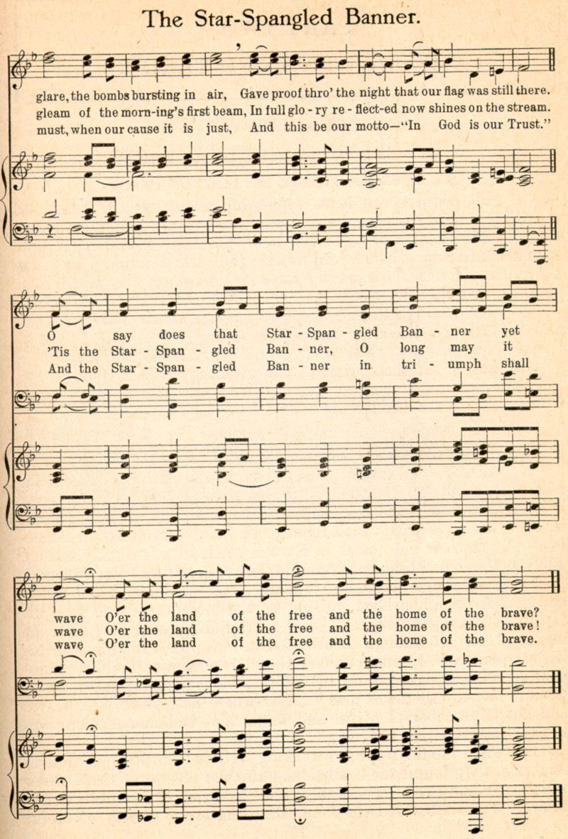 The Star-Spangled Banner by Francis Scott Key (written in ...