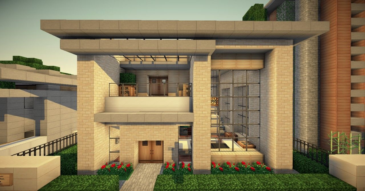 Strange 17 Best Ideas About Minecraft Small Modern House On Pinterest Largest Home Design Picture Inspirations Pitcheantrous