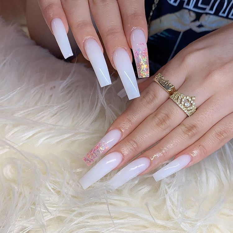 Long Colored Set With 2 Encapsulated Nails Online Booking Now Available Link In Bio In 2020 Long Square Nails Long Square Acrylic Nails Long Acrylic Nails