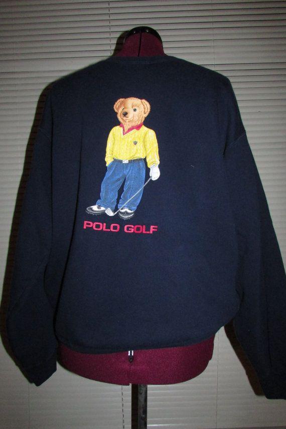 429152dd Vintage Polo Bear sweatshirt polo golf by THATSACOOLSHIRT on Etsy, $125.00