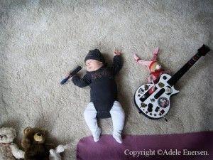 Adele Enersen's baby...is a rock star!