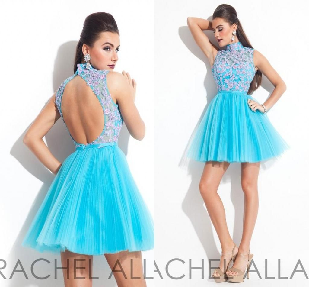 Best Selling Fashion Blue Dresses Bling Homecoming Dresses Beaded ...