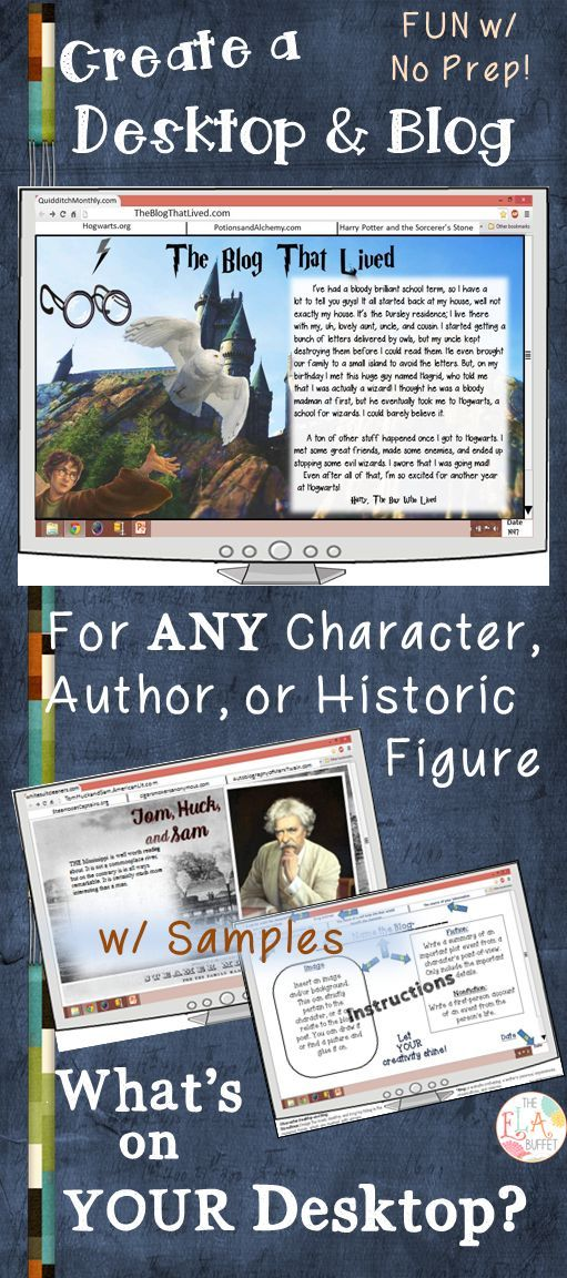 This is fun to create for book characters, historic figures, or even authors!
