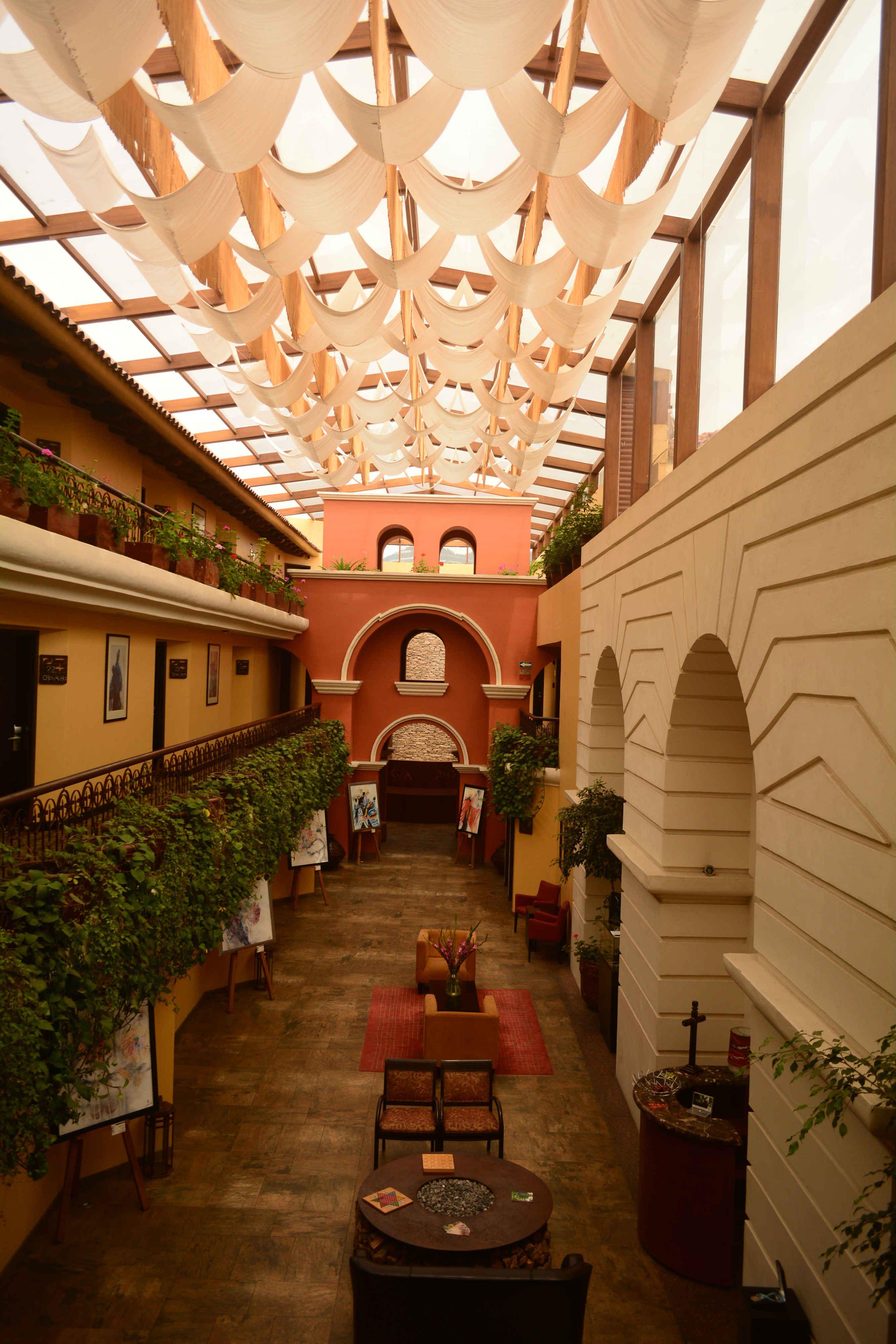 Lobby del Hotel Casa del Alma. Un espacio que recrea el