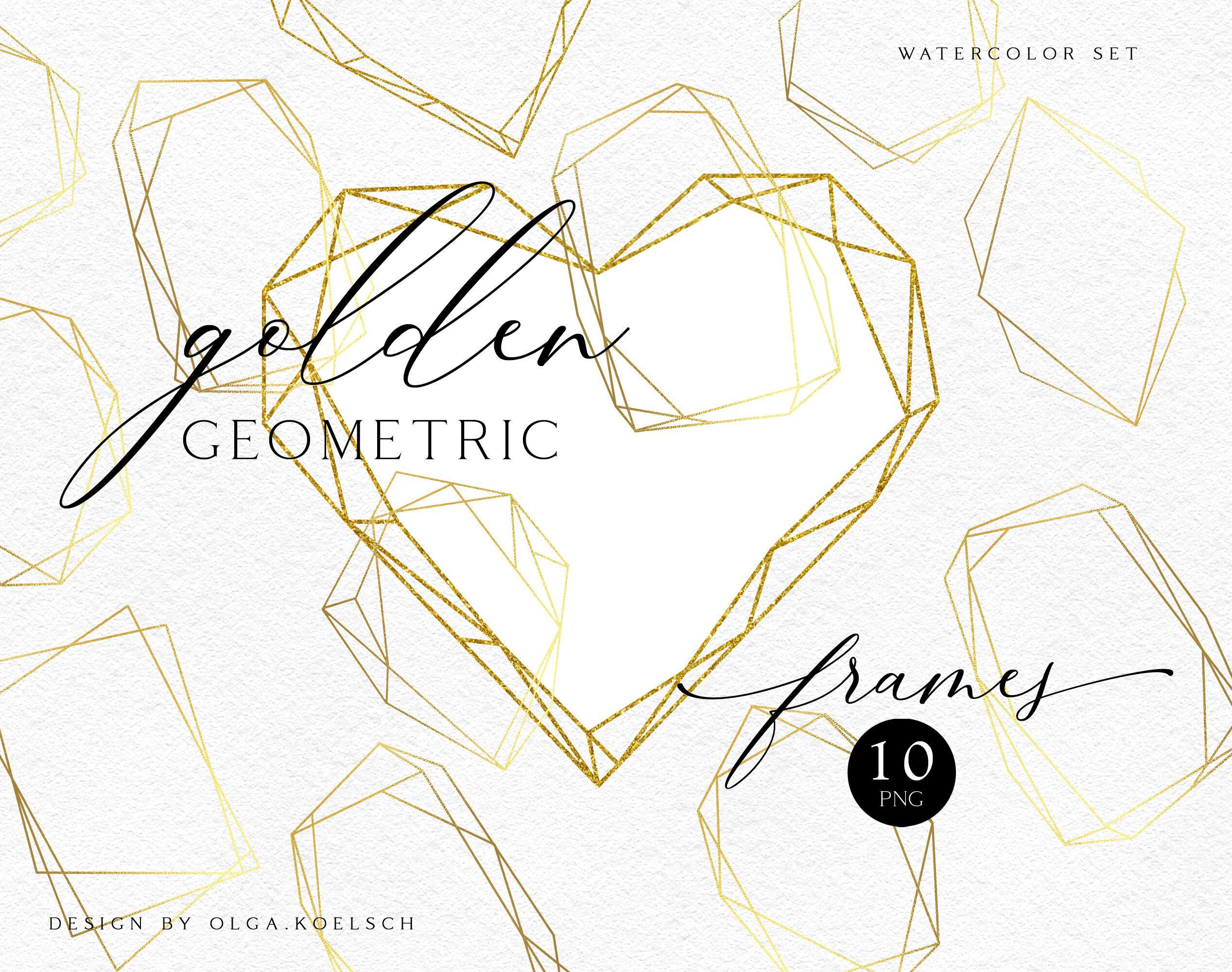 Gold Geometric Frames Png Gold Polygonal Glitter Frame Clipart By Olga Koelsch Thehungryjpeg Com Sponsored Png Glitter Frame Frame Clipart Gold Geometric