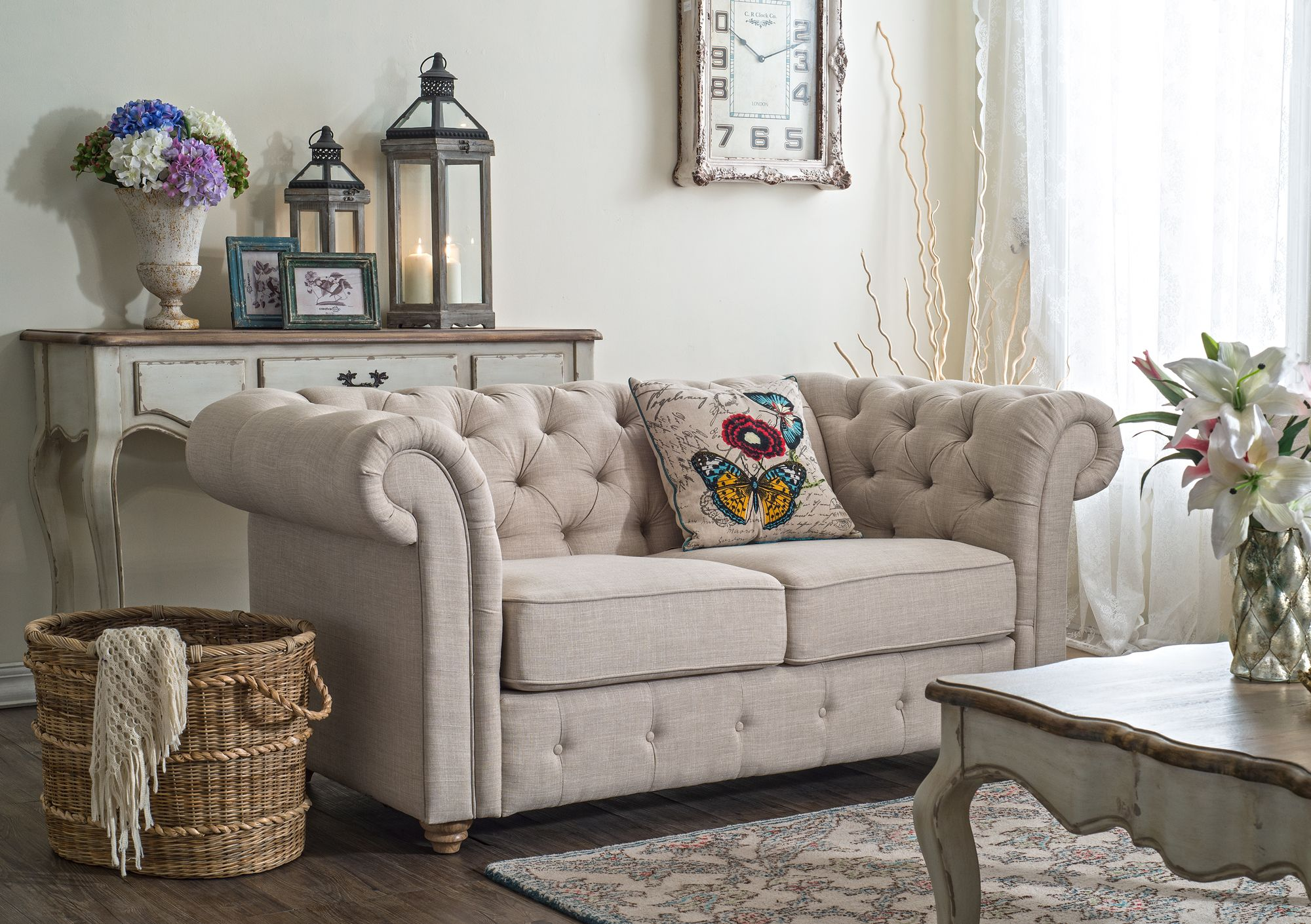 Maison Chesterfield Loveseat Sofas Creative Co Op Home