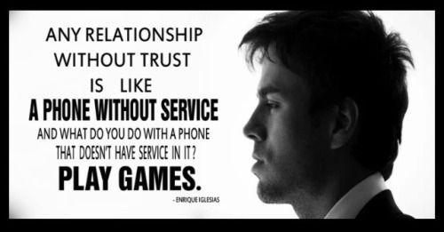 Enrique Iglesias - Trust In A Relationship...