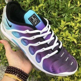 8e46cbad07a45 Nike Air VaporMax Plus TN Purple Blue White Sneakers Women s Men s Running  Shoes