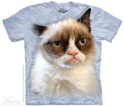 grumpy cat t-shirt stonewashed, multicolored, 100% preshrunk cotton