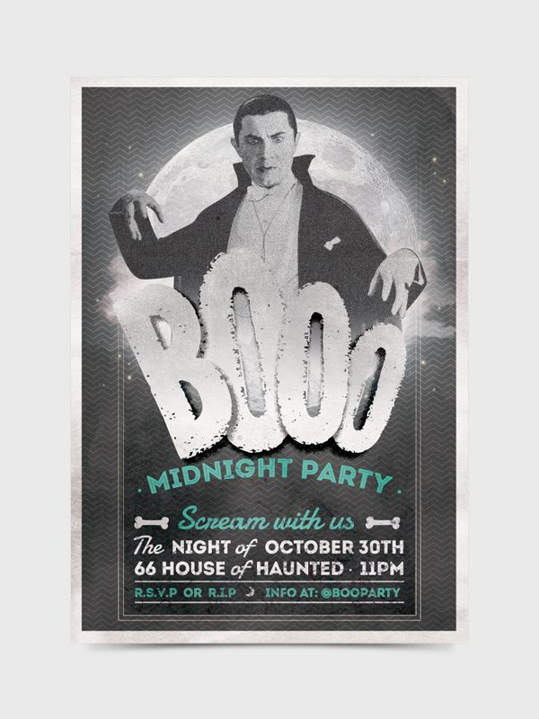 Halloween Flyer/Invitation by Soledad Martínez, via Behance