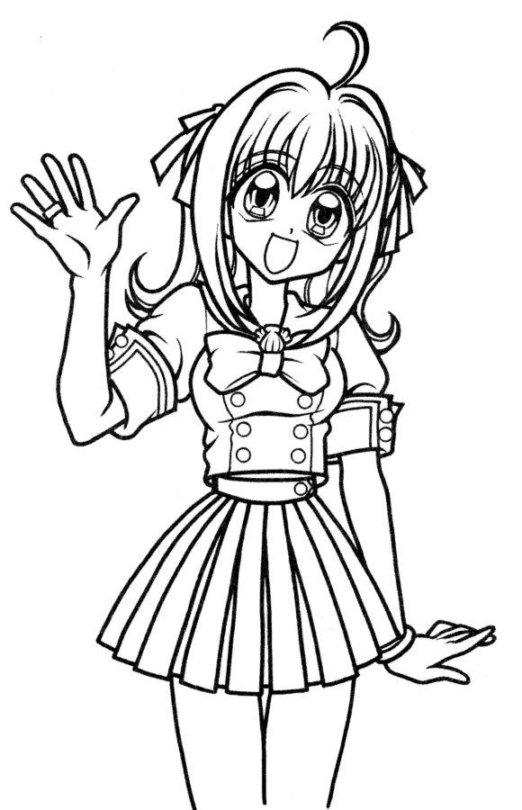 Dessin à colorier: Mangas (Dessins Animés) #128 - Coloriages à imprimer | Coloriage manga ...
