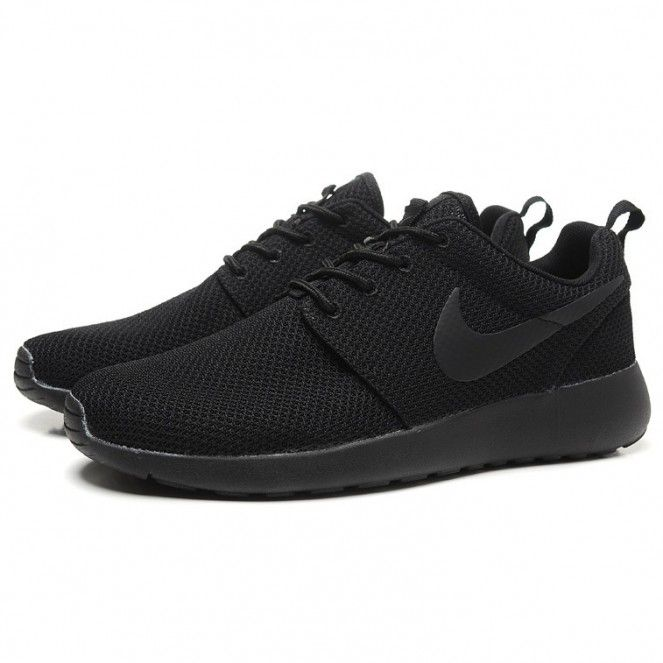 44bfd3b7b558c Nike Roshe Run Splatter Pack Running Shoes All Black | Nike free ...