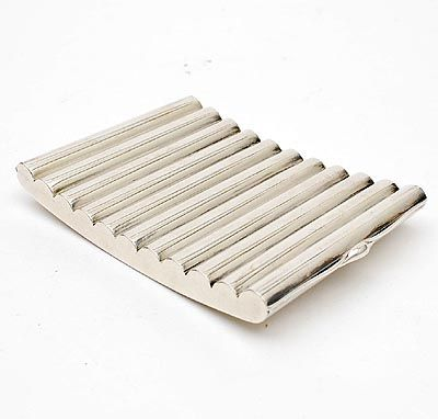 Zilveren sigarettenkoker ontwerp Karl Gustav Hansen uitvoering Hans Hansen Kolding / Denemarken 1953