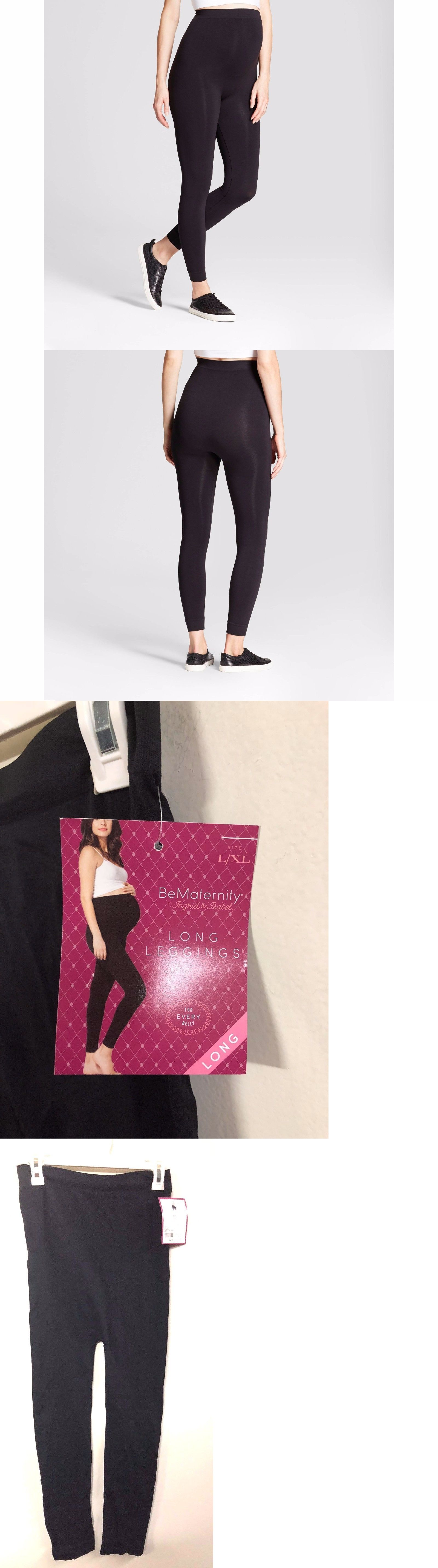 c72f5b53a5294 Leggings 46809: Nwt Bematernity By Ingrid And Isabel Yoga Black Seamless  Belly Leggings L Xl -> BUY IT NOW ONLY: $12.99 on #eBay #leggings  #bematernity ...