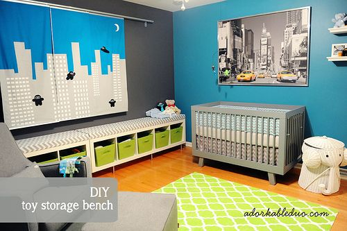Five Easy Diy Projects For A Nursery Toy Storagestorage Benchesnursery