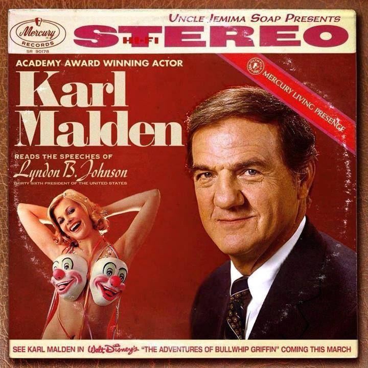karl malden reads lyndon b johnson album - great for parties