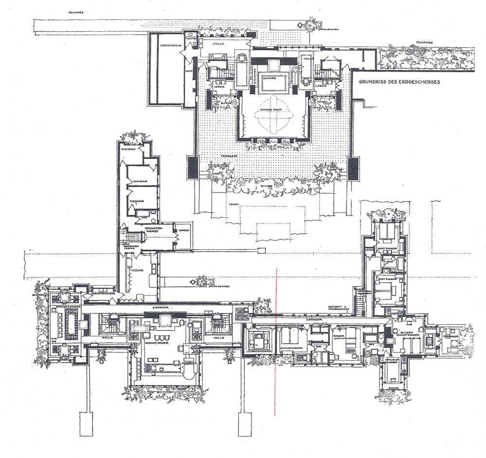 Google Image Result For Https I Pinimg Com Originals Aa 38 D5 Aa38d5e749e9e67c4703f33791e3ff7d Jpg Frank Lloyd Wright Design Darwin Martin House Floor Plans