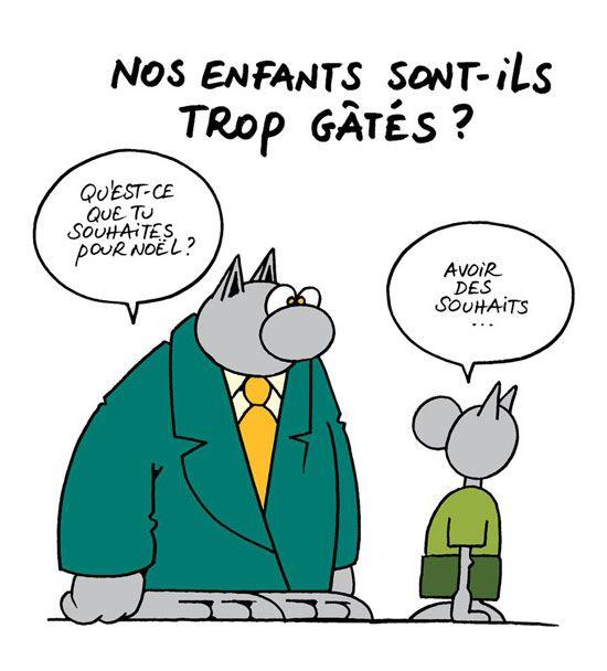 Tics En Fle Noel Avec Le Chat Le Chat Geluck Noel Humour Humour
