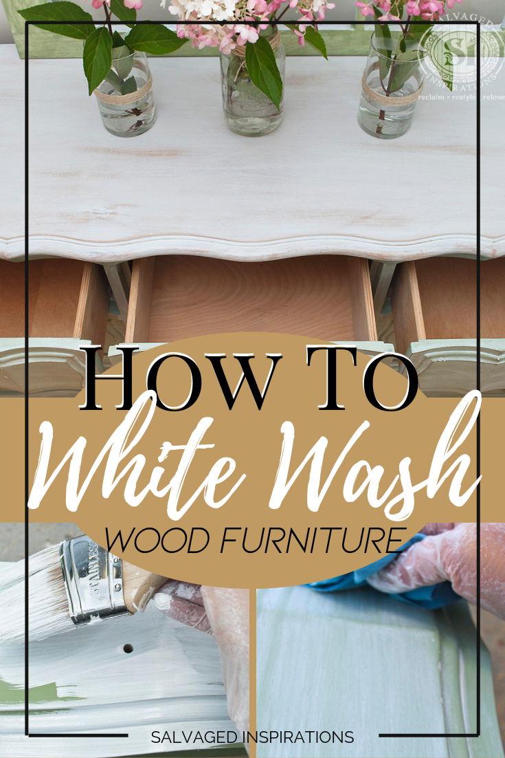 How To Whitewash Wood Furniture is part of White wash wood furniture, White washed bedroom furniture, Restore wood furniture, Whitewash wood, Raw wood furniture, Wood bedroom furniture - Even though this whitewash paint technique looks like you have to know what your doing    guess what   you really don't! If you're a DIY'er who can water down paint, brush on and wipe off, you can whitewash wood and get amazing results! Here's an easy step by step tutorial