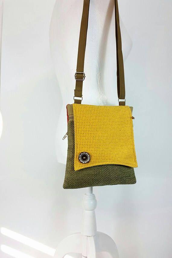 a100cfd18ebc Small cross body purse All fabric bag Crossbody Bag Sling