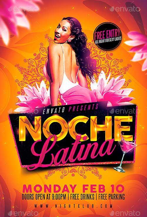 Noche Latina Party Flyer - http://ffflyer.com/noche-latina ...