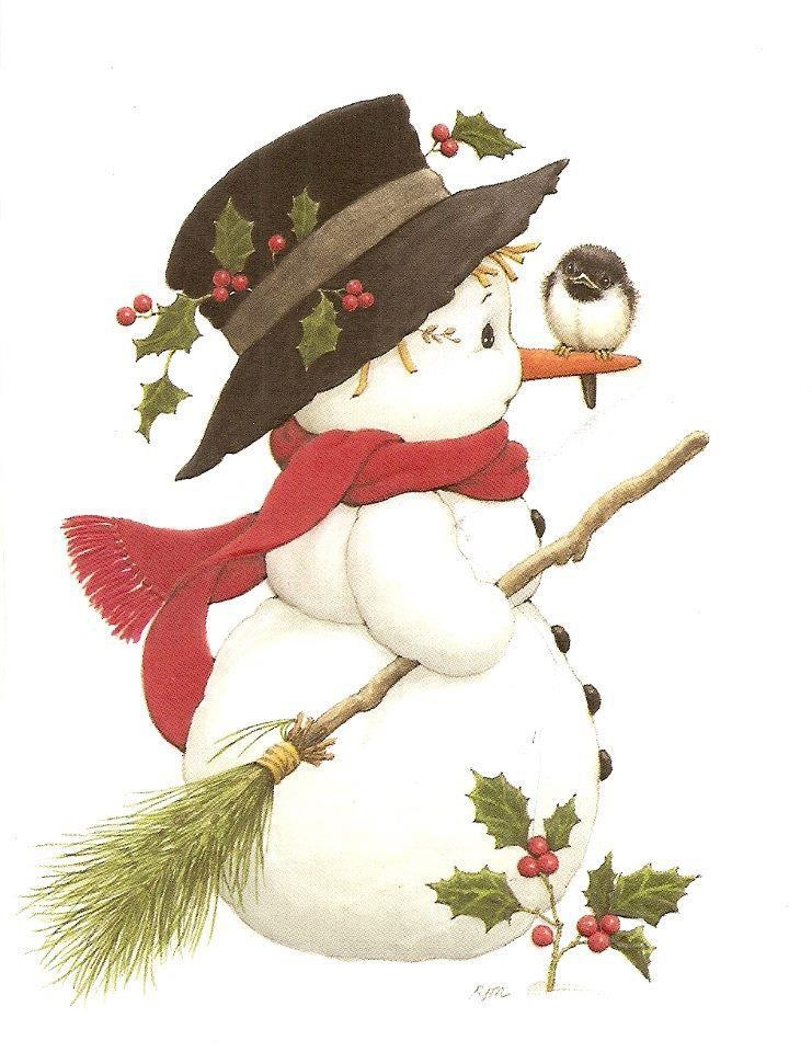 Vintage character Christmas paintings, Christmas art