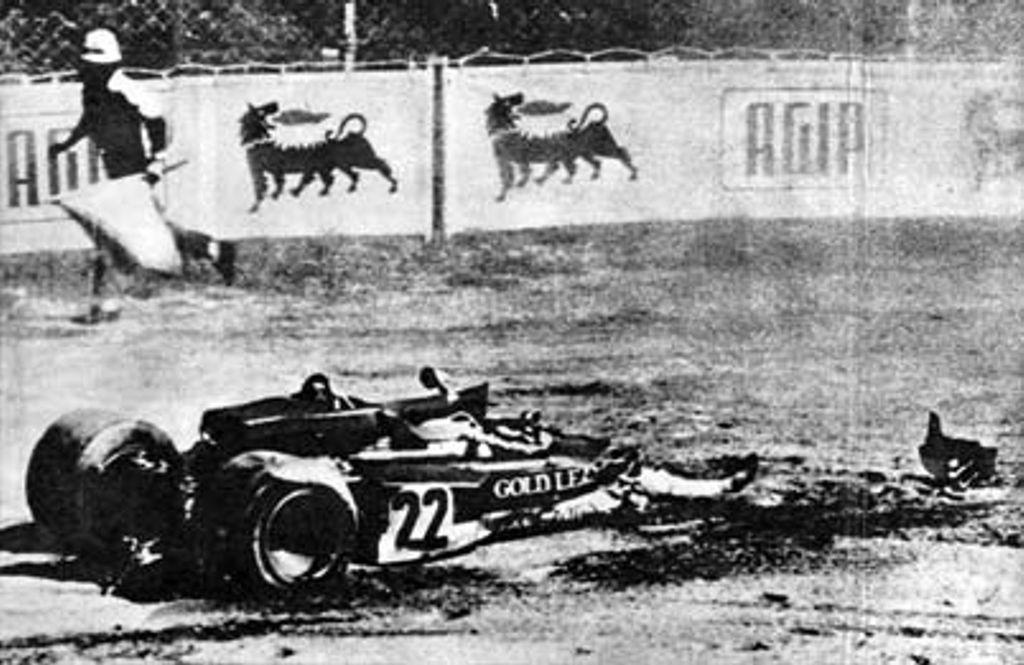 1970 Monza, Jochen Rindt accidente, Lotus 72 Racing