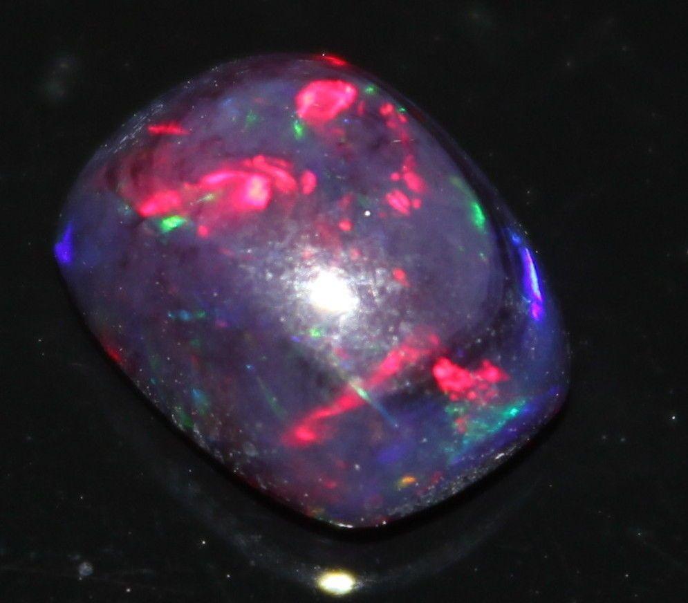 tcw natural ethiopian black opal multicolour loose gemstone