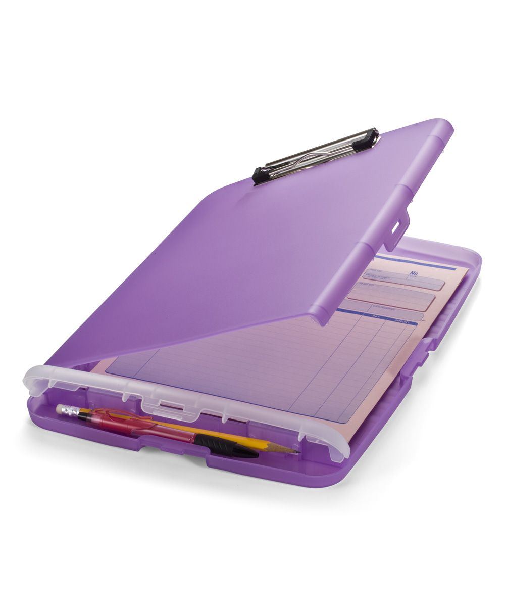 Officemate purple slim storage clip board products storage and