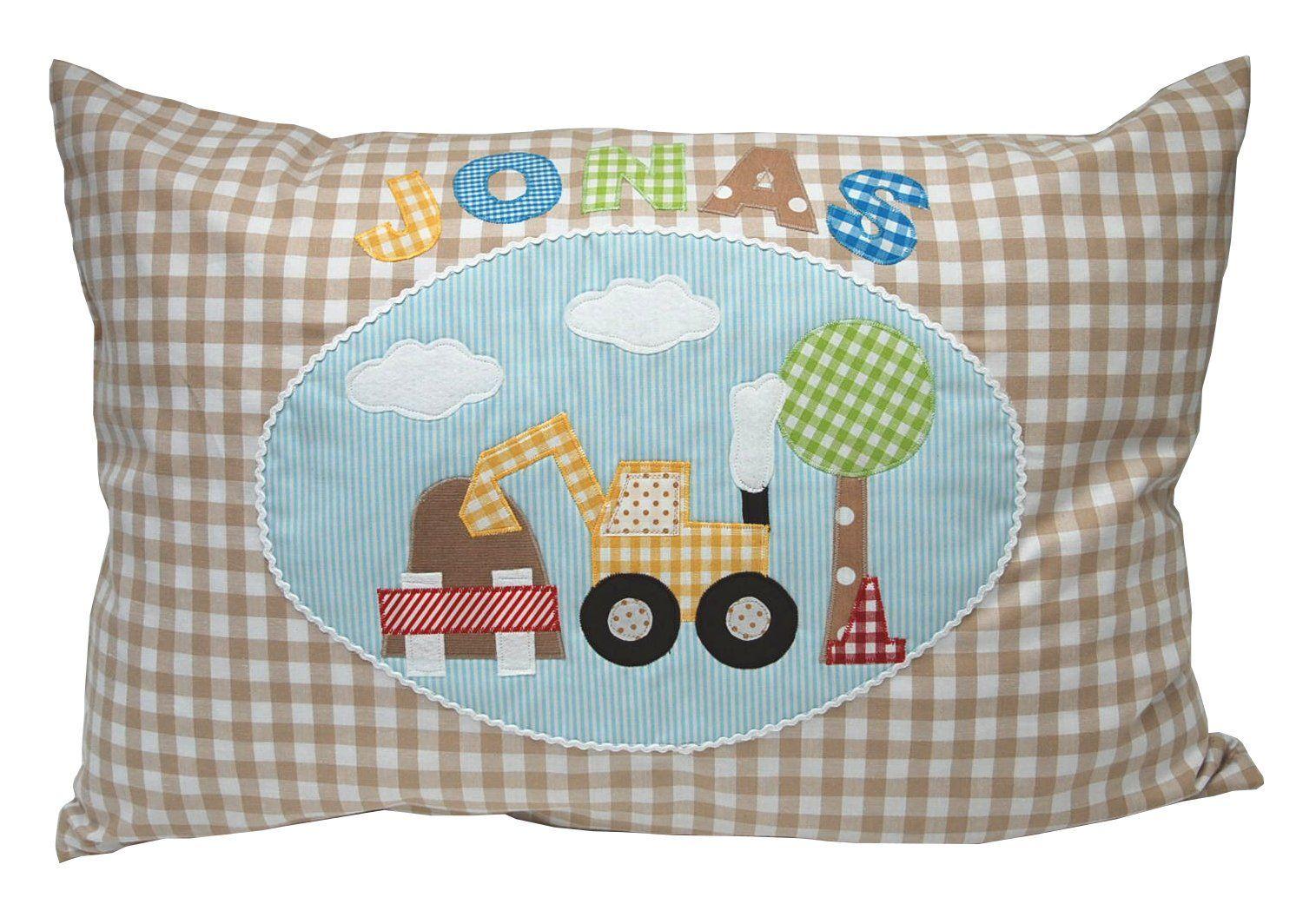 Namenskissen Traktor kleines Kissen mit Name