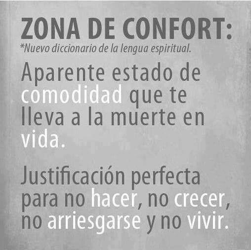 Sal de la zona de confort!!
