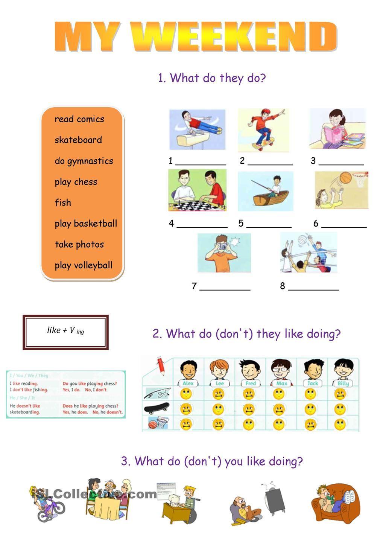 My weekend worksheet - Free ESL printable worksheets made by teachers