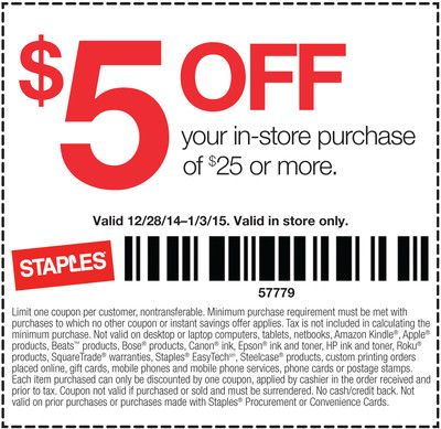 Staples Coupons 5 Off 25 At Staples Coupon Apps Money Saver Coupons