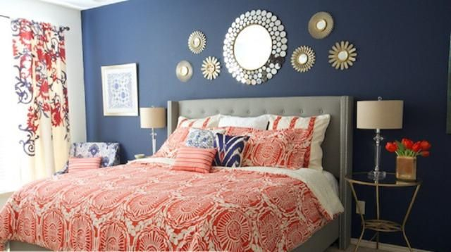 Gorgeous Yet Unexpected Color Trios for the Bedroom is part of Guest bedroom Navy - When you mix three colors in an unexpected way, the result is bedroom decorating magic  Here are seven bedrooms with unusual, yet gorgeous, palettes