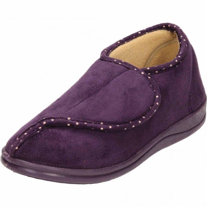 0b7b426f2008 Padders Lydia EE Wide Fitting Washable Open Toe Velcro Slippers - Padders  from Jenny-Wren Footwear UK
