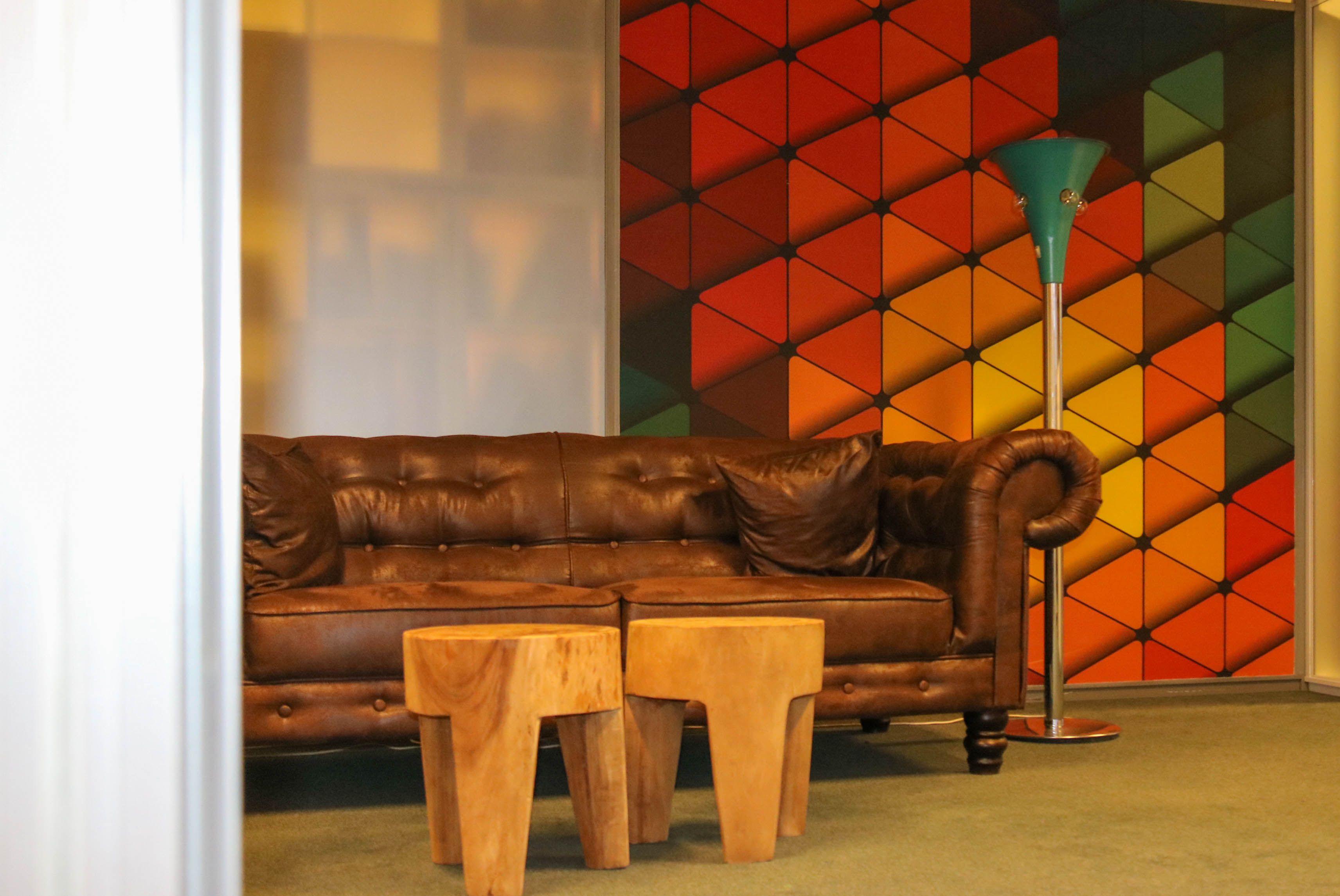 Relaxruimte bedrijfsstyling. Design: Angela Lanting Interieurstyling