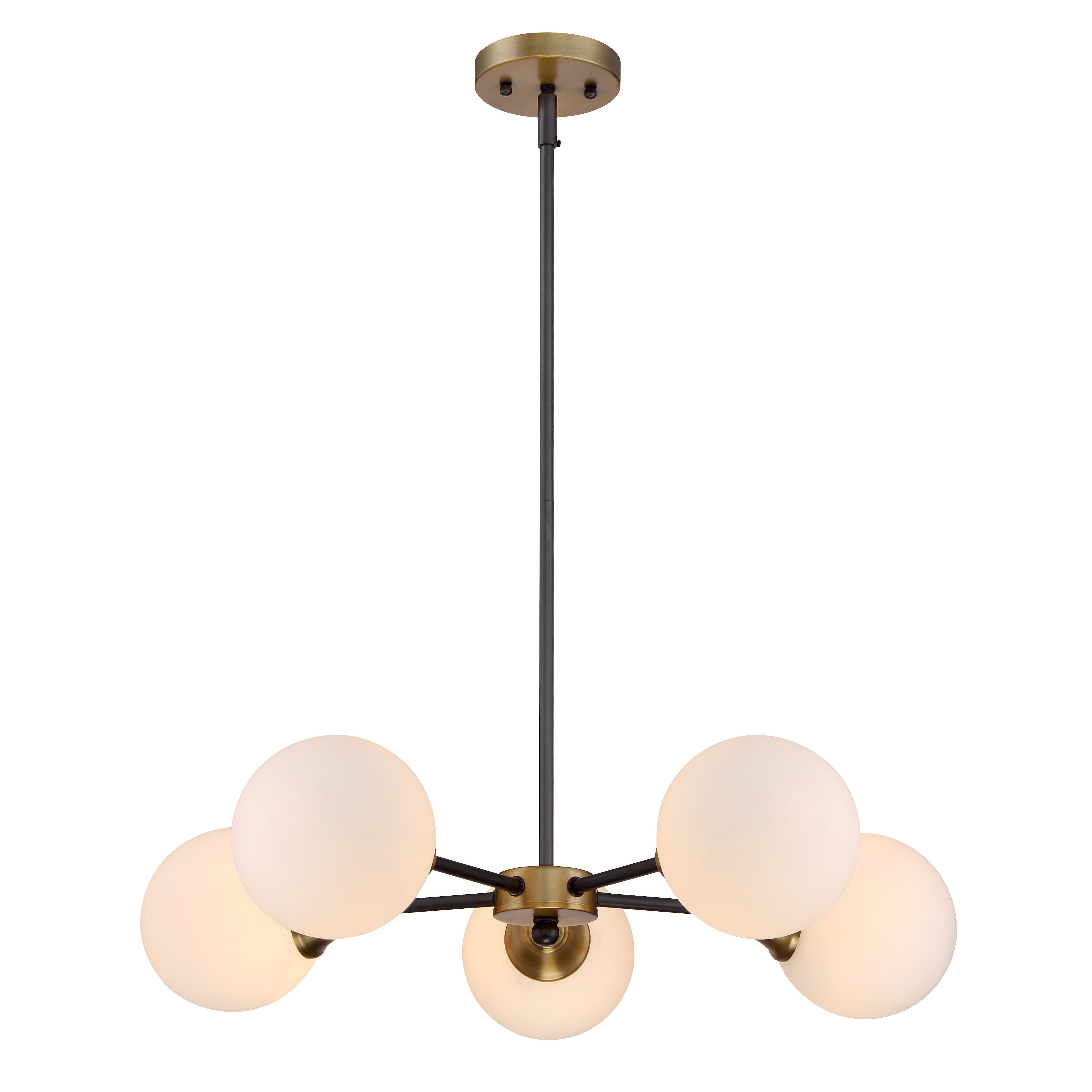 Mercer41 St Helens 5 Light Sputnik Chandelier Mid Century