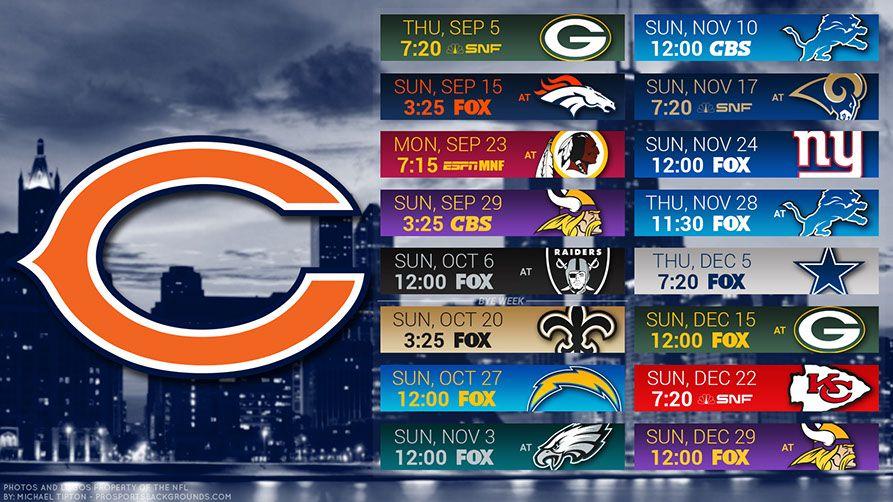 Chicago Bears 2019 Desktop Pc City Nfl Schedule Wallpaper Chicago Bears Wallpaper Chicago Bears Chicago Bears Schedule