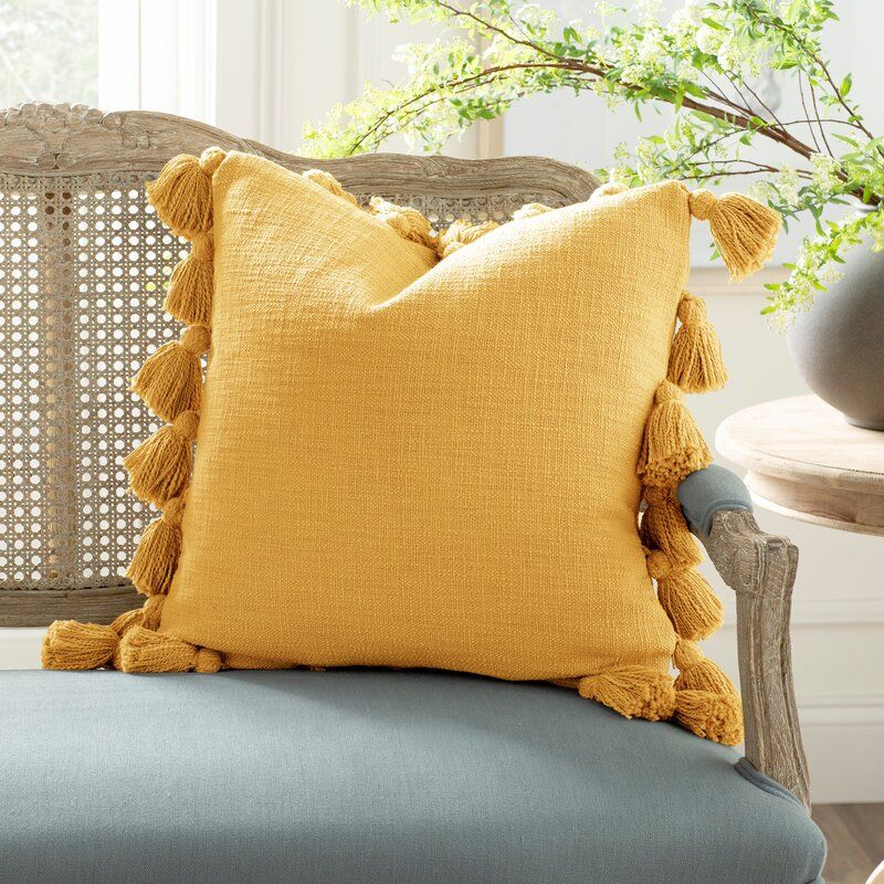 Interlude Luxurious Square Cotton Pillow Cover And Insert Cotton Pillow Pillows Pillow Covers