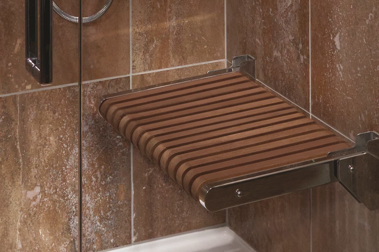 Will This Go With Light Wood Vanity Teak Fold Down Shower