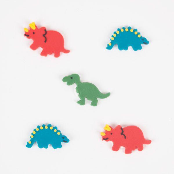 5 toppers en sucre pour la deco de votre table d anniversaire sur un theme dinosaure comment resister a ces monstres gentils