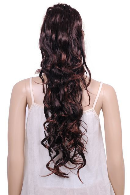 45cm long dark brown big Ponytail Hairpiece Extension Wig WA251 ... a5b779be6